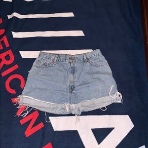 Distressed denim Levi Shorts